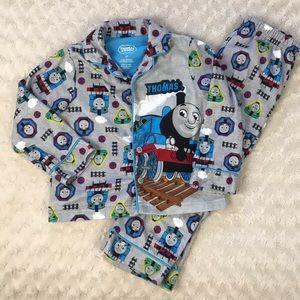 Thomas & Friends Pajamas Size 4T Gray Blue Train